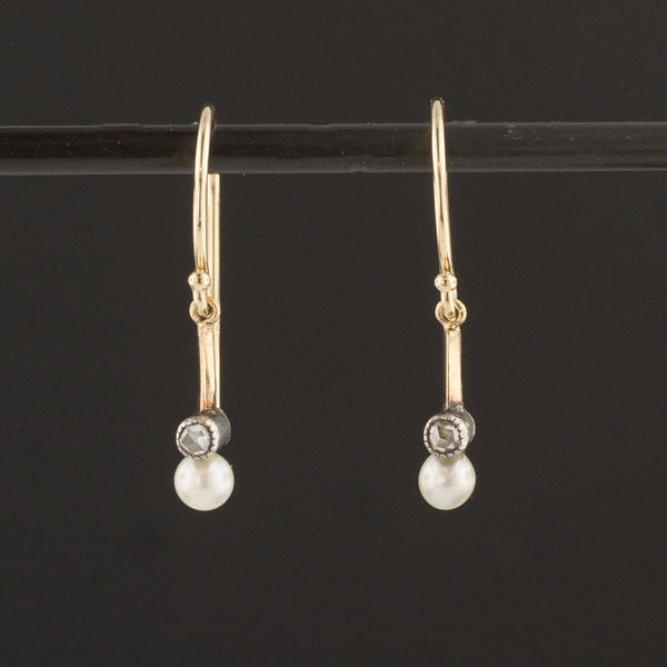 Diamond & Pearl Earrings | Pin Conversion Earrings | Diamond Dangle Earrings | Bridal Earrings