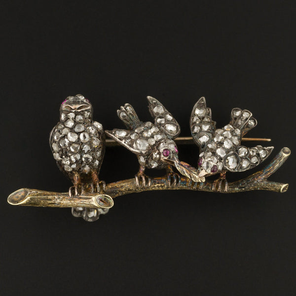 Antique Diamond Bird Brooch | Antique Bird Brooch-Trademark Antiques