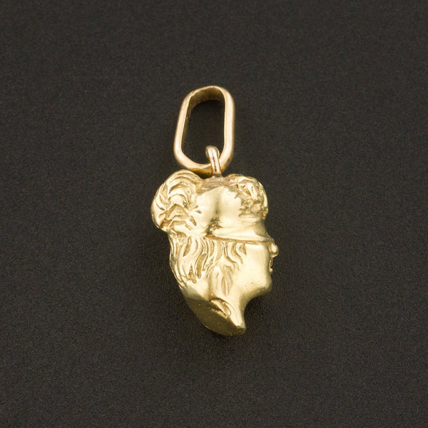 Blind Justice Charm | 14k Gold Charm-Trademark Antiques