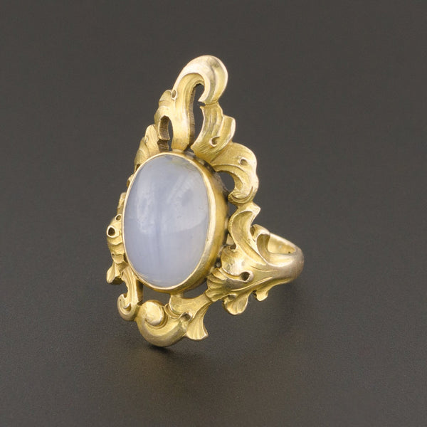 Star Sapphire Ring | Antique Ring-Trademark Antiques