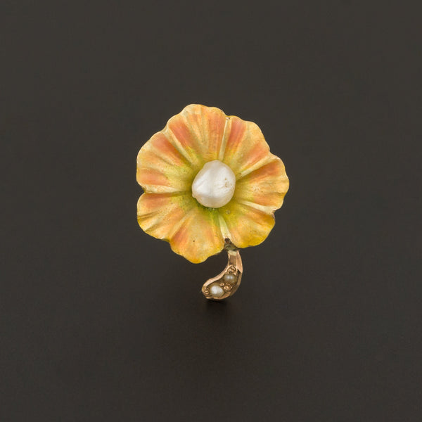 Single Stud Earring | Gold Flower Earring | Mix and Match Earring | Pin Conversion Earring | Enamel Flower Earring