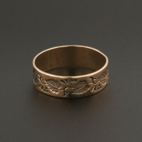 Antique Cigar Band Ring | 10k Rose Gold Band-Trademark Antiques