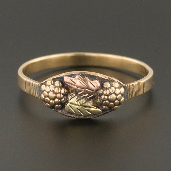 Black Hills Gold Ring | Tri Color Gold Ring-Trademark Antiques
