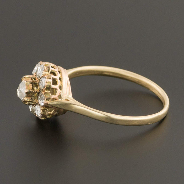 Rose Cut Diamond Ring | Antique Pin Conversion Ring-Trademark Antiques