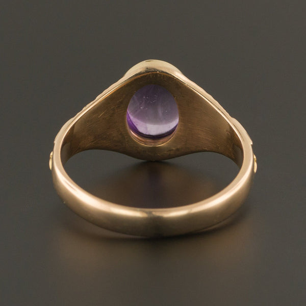 Amethyst Ring | Antique Amethyst Ring | 10k Gold Ring | Antique Victory Ring | Academic Achievement Ring