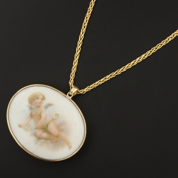 Cherub Pendant | Antique Pin Conversion-Trademark Antiques