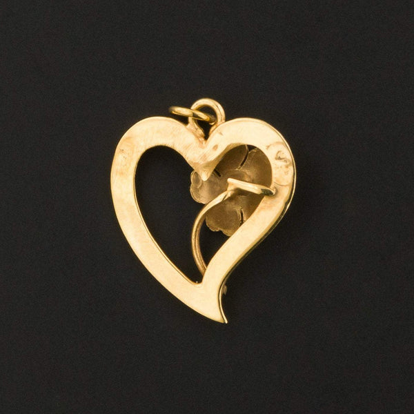 Heart Charm | Antique Heart Charm-Trademark Antiques