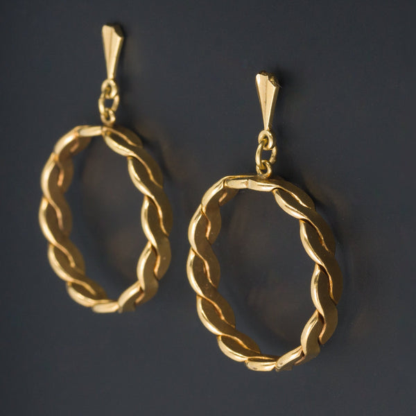 Vintage 14k Gold Earrings | Gold Hoop Earrings-Trademark Antiques