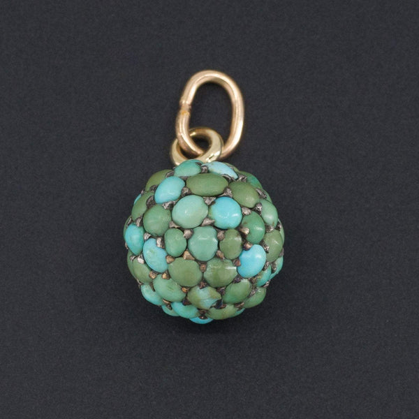 Antique Turquoise Pendant | Antique Pin Conversion-Trademark Antiques