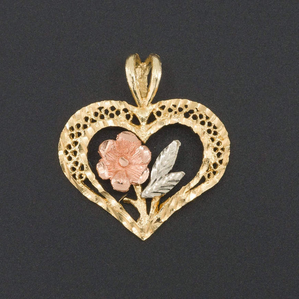 Heart Pendant | 14k Gold Pendant-Trademark Antiques