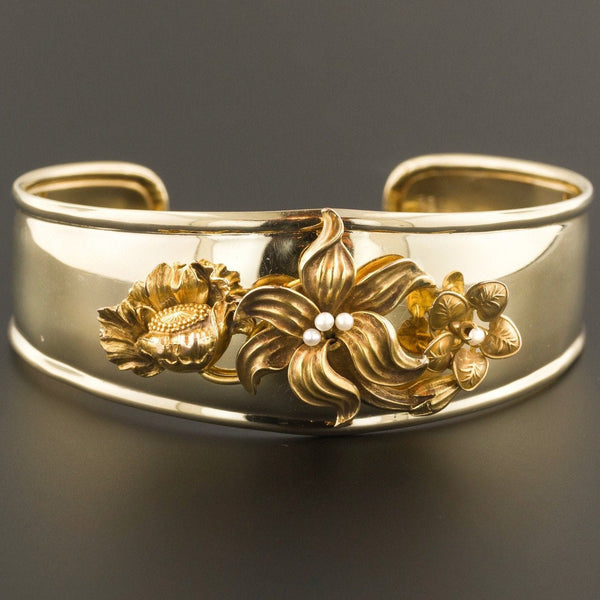 Gold Bangle Bracelet | 14k Gold Bangle Bracelet-Trademark Antiques