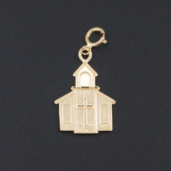 Vintage Church Charm | 14k Gold Charm or Pendant-Trademark Antiques