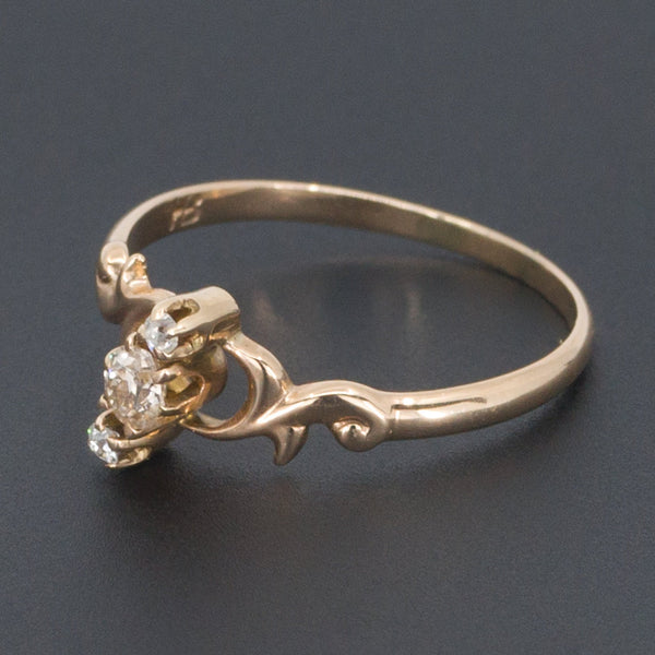 Antique Diamond Ring | Victorian Diamond Ring-Trademark Antiques