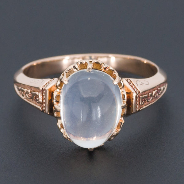 Moonstone Ring | Blue Moonstone Ring-Trademark Antiques