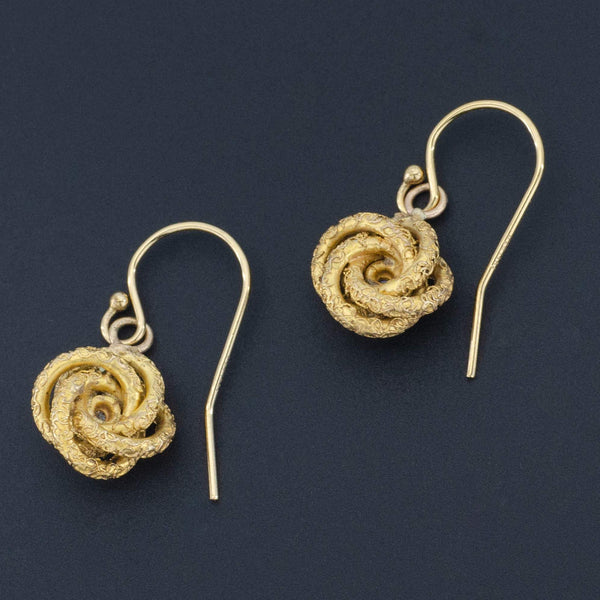 Love Knot Earrings | Antique Love Knot Earrings-Trademark Antiques