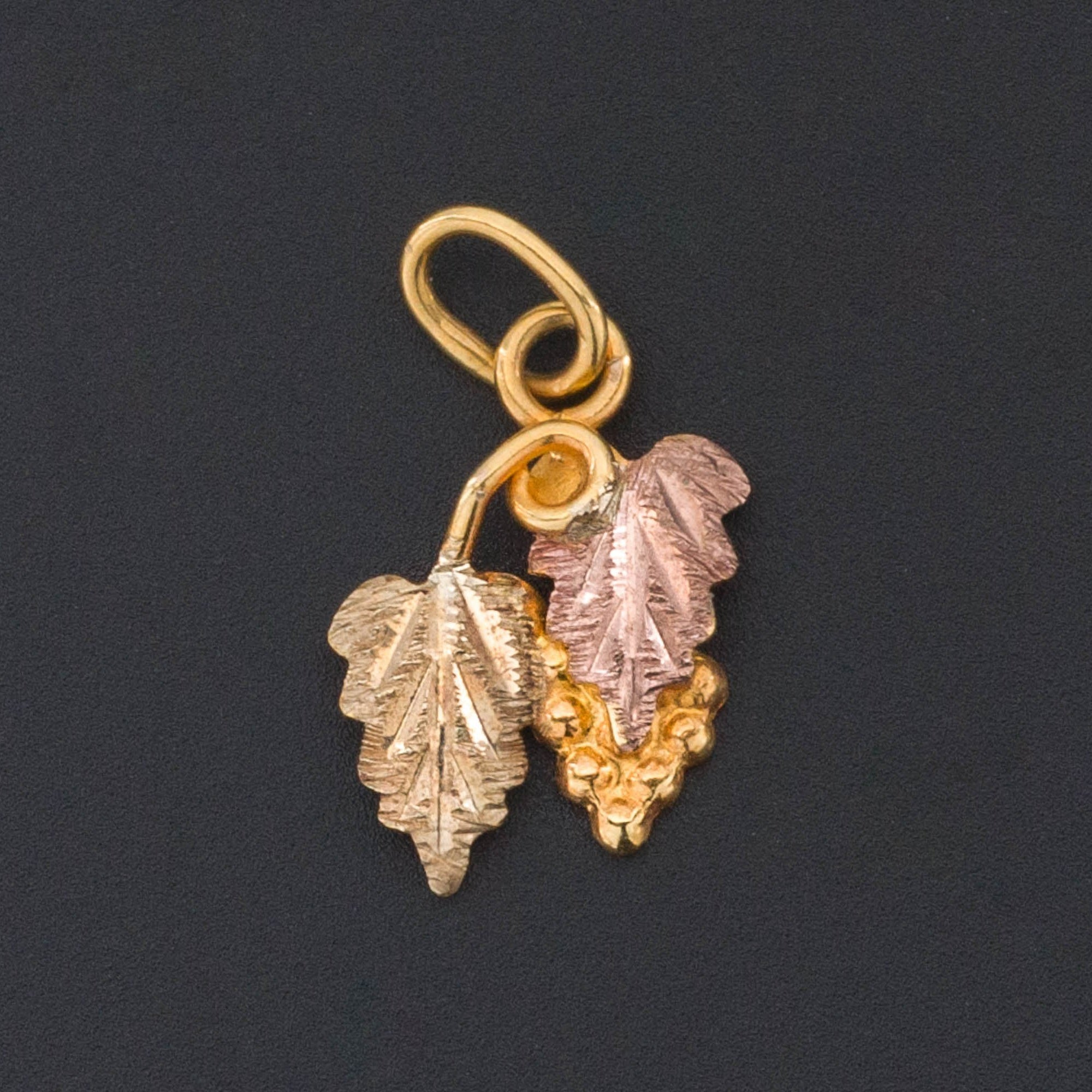 10k Gold Grapes Charm | Vintage Gold Charm-Trademark Antiques