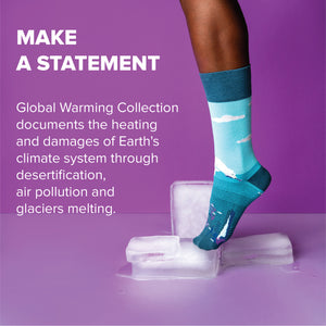 Melting Glaciers Socks