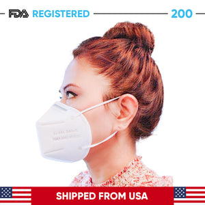 Pack of 200 - 5 Ply KN95 Face Masks (Pack of 200 Face Masks)