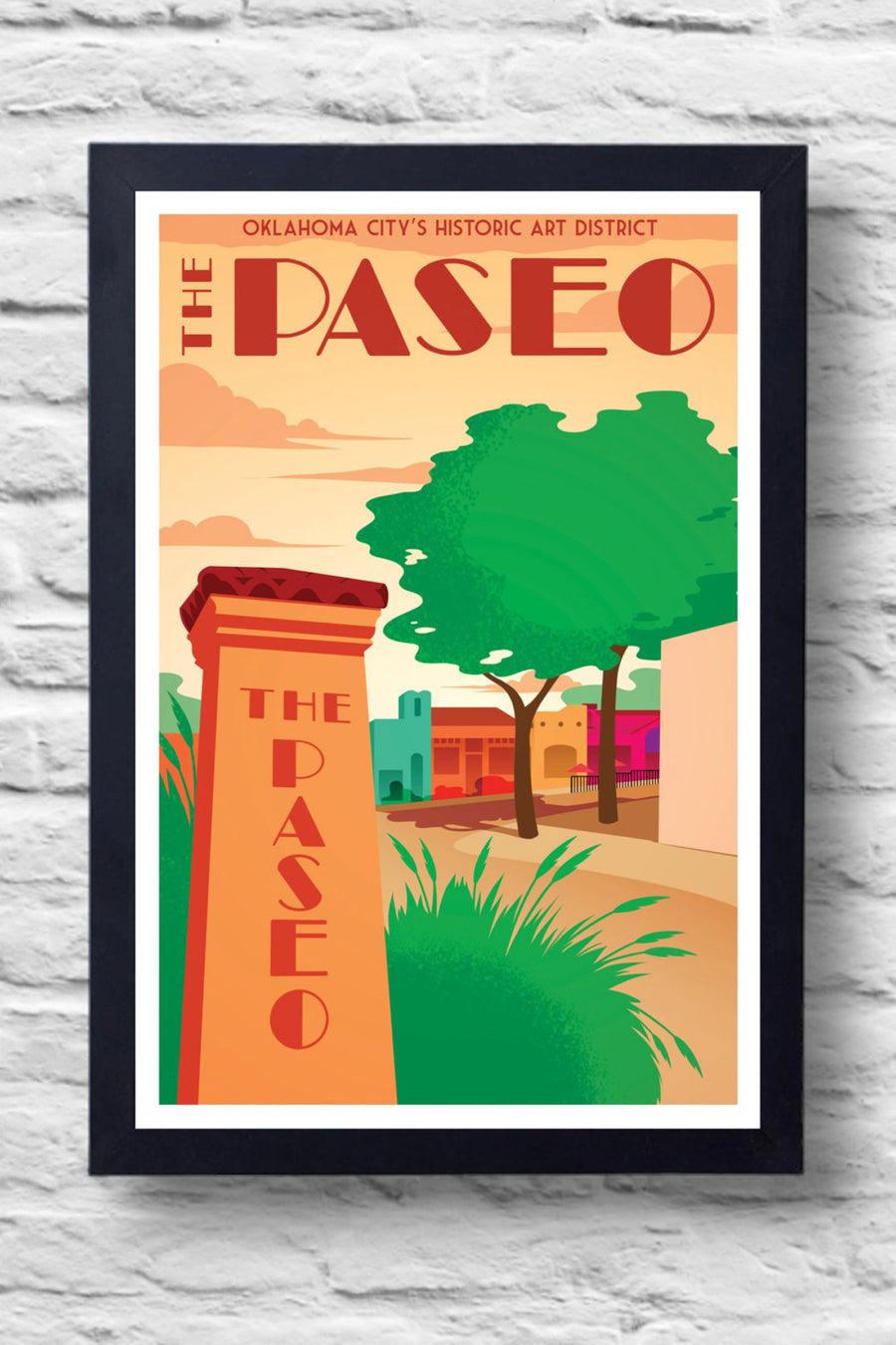 Paseo District Print || Greg White Illustrations