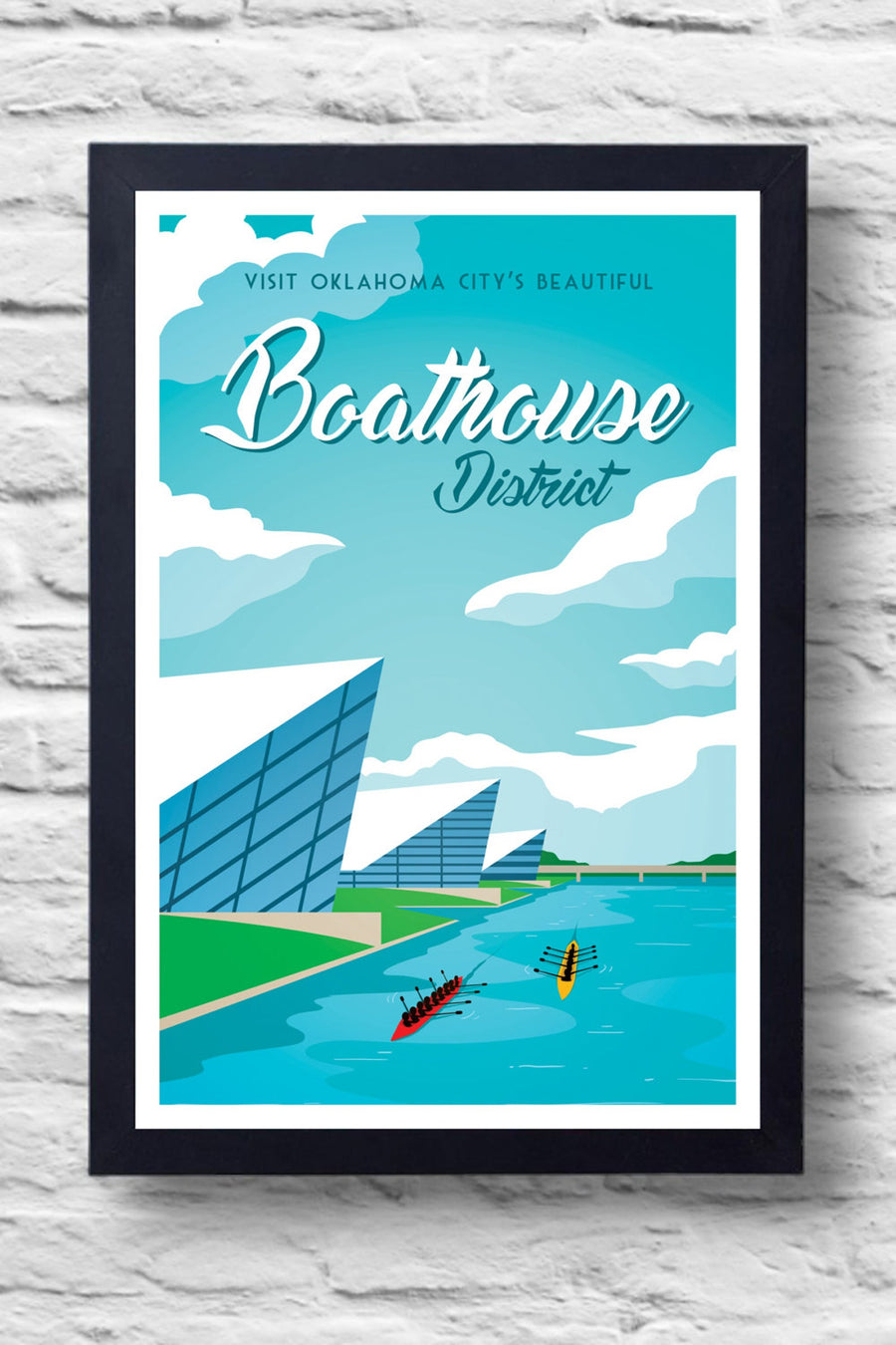 Boathouse District Print || Greg White Illustrations