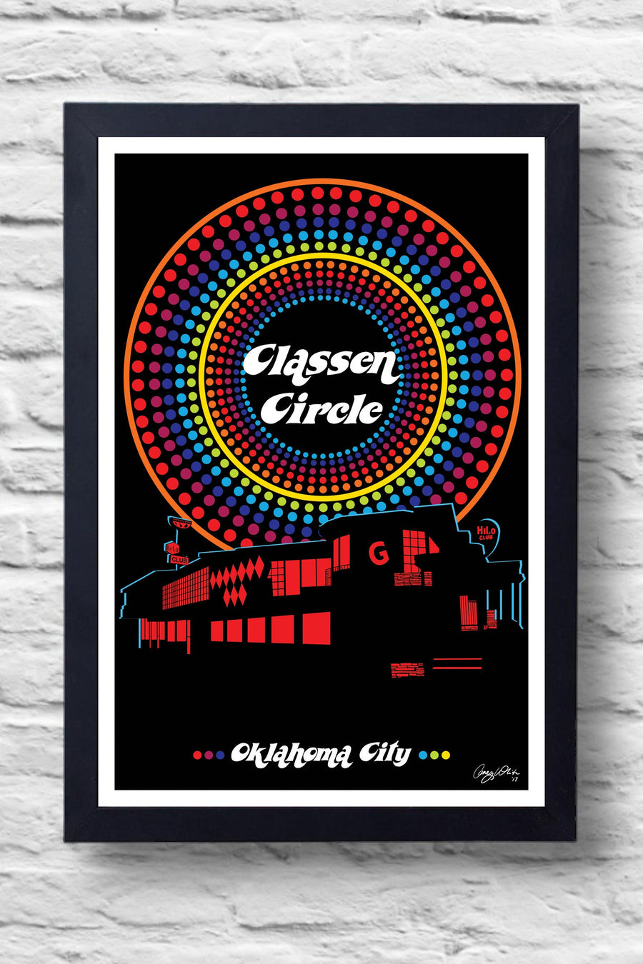 Classen Circle Print || Greg White Illustrations