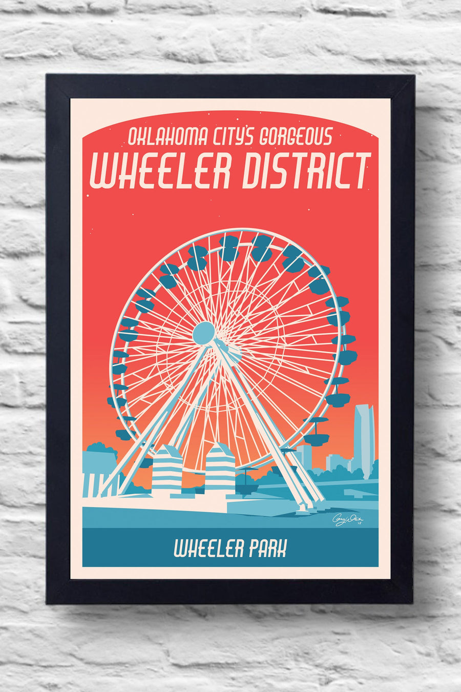 Wheeler District Print || Greg White Illustrations