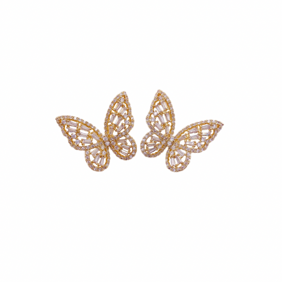 Bridget Butterfly Clear Studs || Made by Maddie