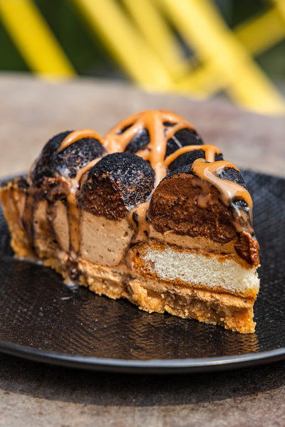 Gianduja Chocolate Milk Tea Cheesecake