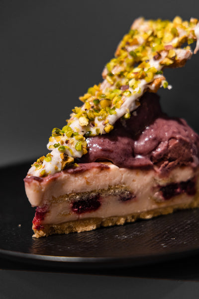 Champagne Cherry Cheesecake