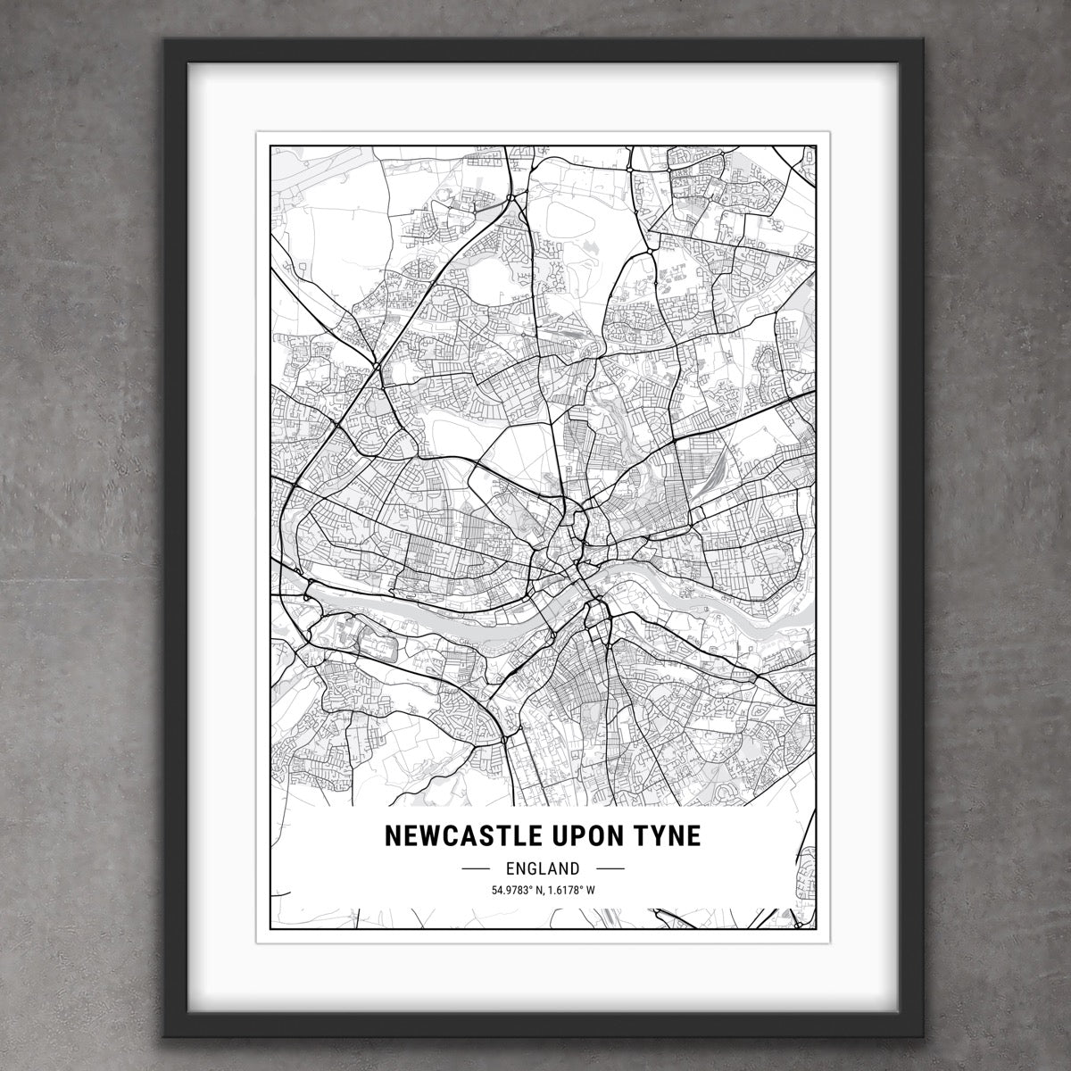 Map of Newcastle Print