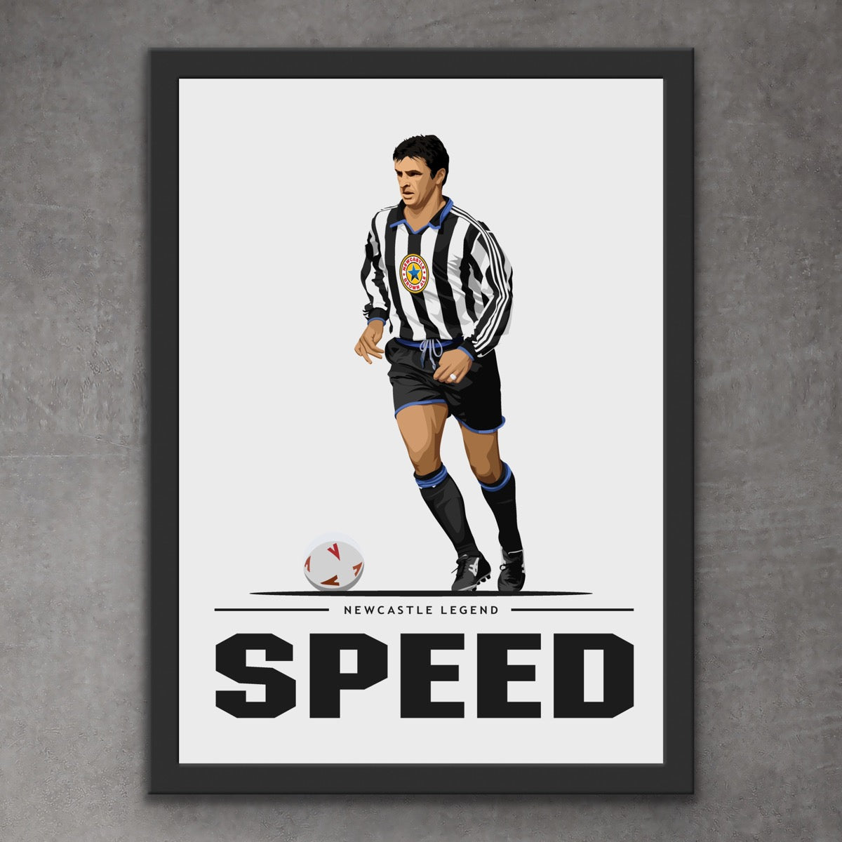 Gary Speed Newcastle Legend Print