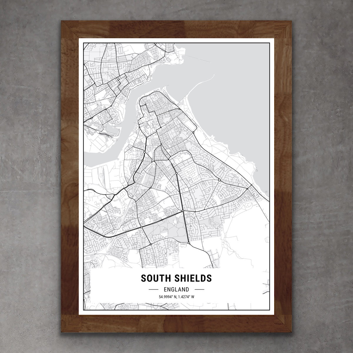 Map of South Shields Print