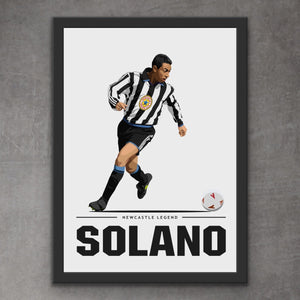 Nobby Solano Newcastle Legend Print