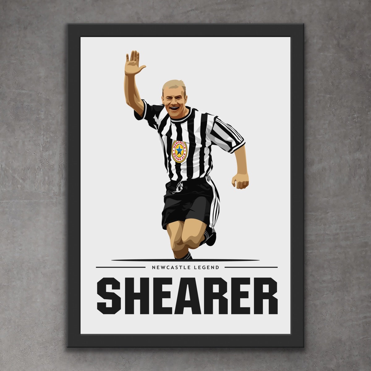 Alan Shearer Newcastle Legend Print