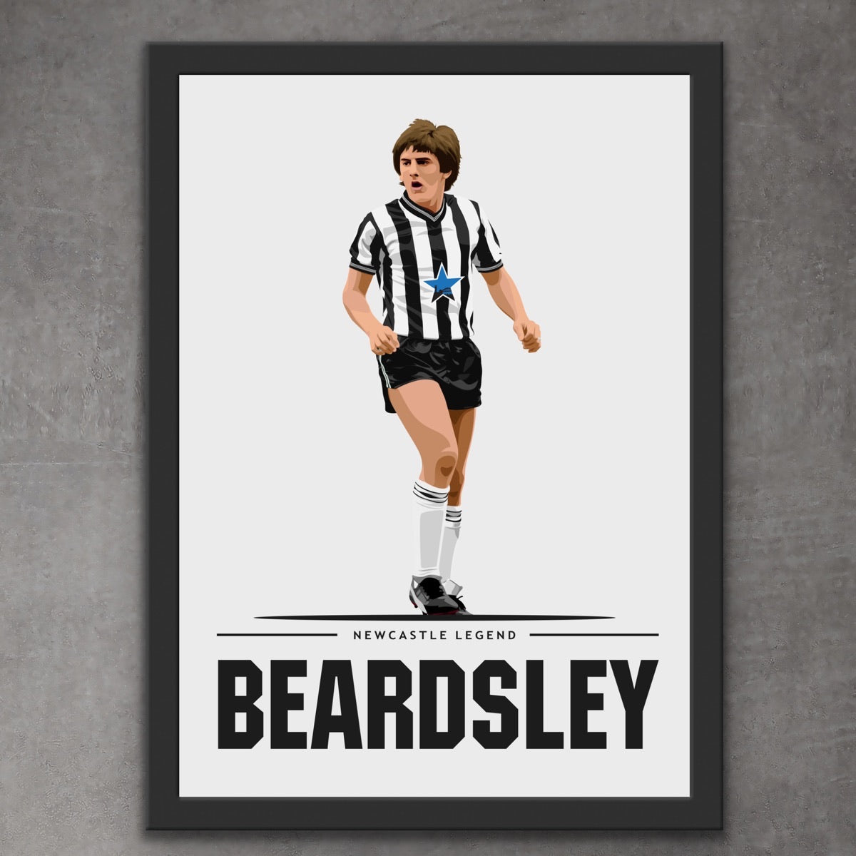 Peter Beardsley Newcastle Legend Print