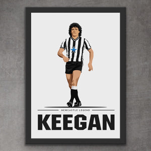 Kevin Keegan Newcastle Legend Print