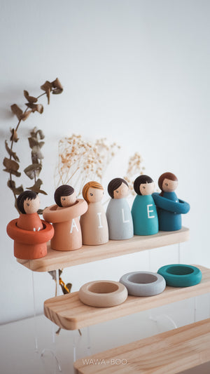 "Open image in slideshow, ""My Name"" Peg Dolls"