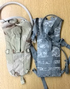 GI Camel Back ACU, 3 Color, and Black