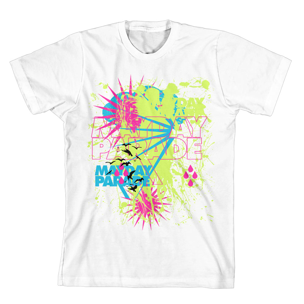 Rain Splat White T-Shirt