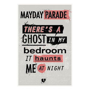 "Ghosts Lyric 16"" x 24""  Screen Printed Poster"