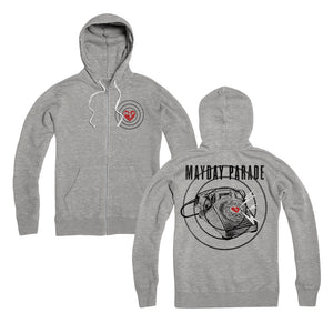 S.O.S. Heather Gray Zip-Up