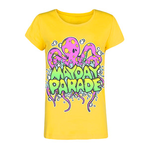 Octopus Yellow Women's T-Shirt