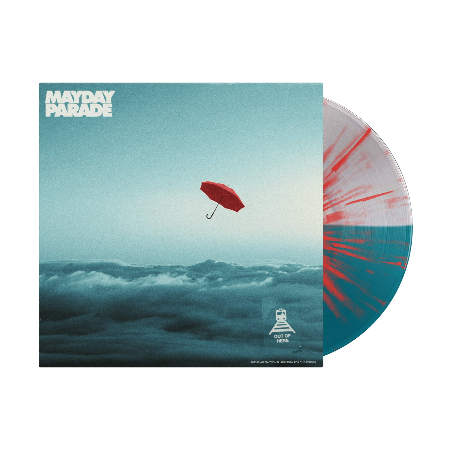 Out Of Here EP Half Clear/Half Sea Blue W. Red Splatter Vinyl LP