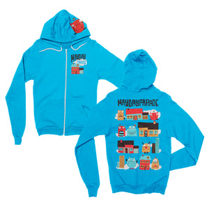 House Monsters Blue Zip-Up