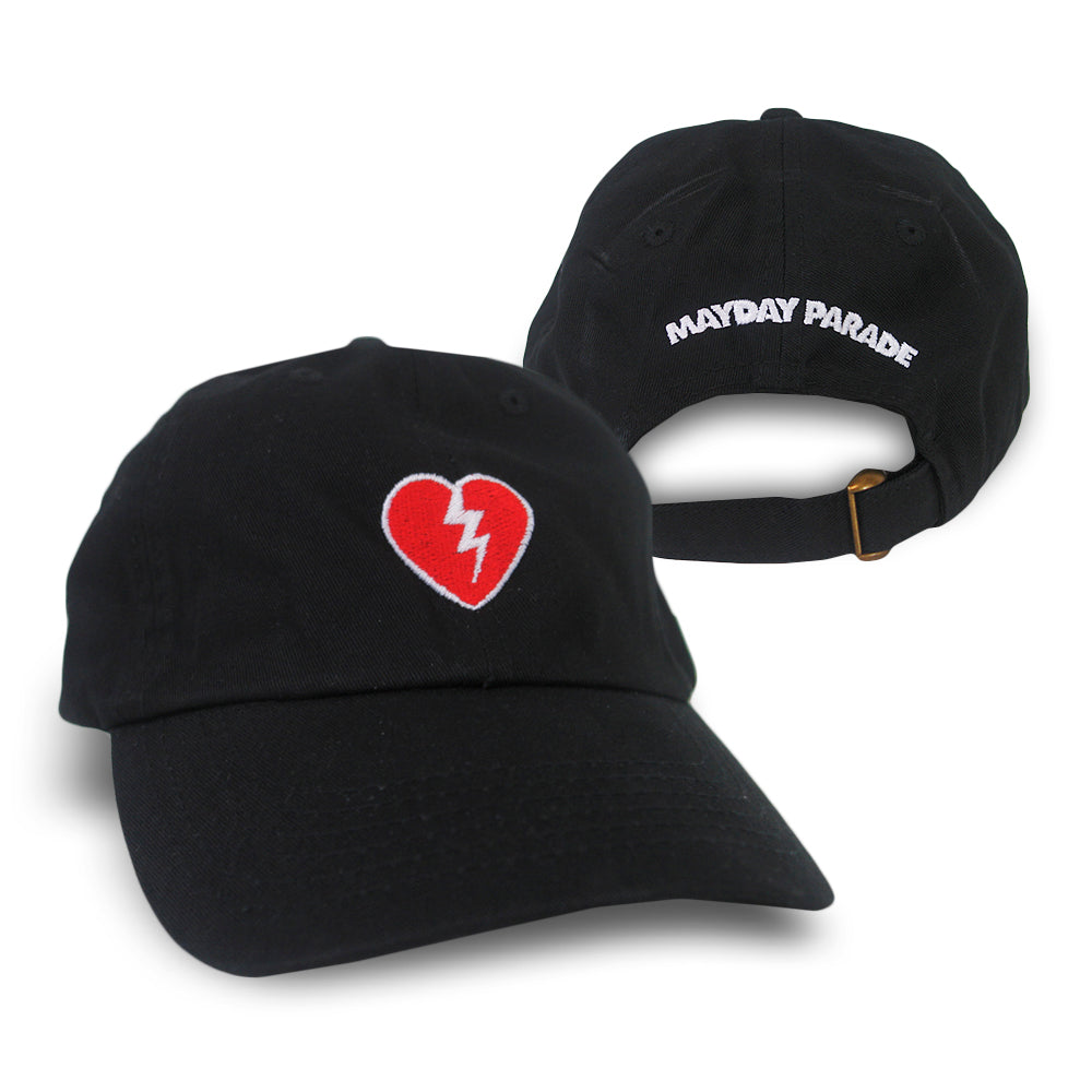 Broken Heart Black Dad Hat