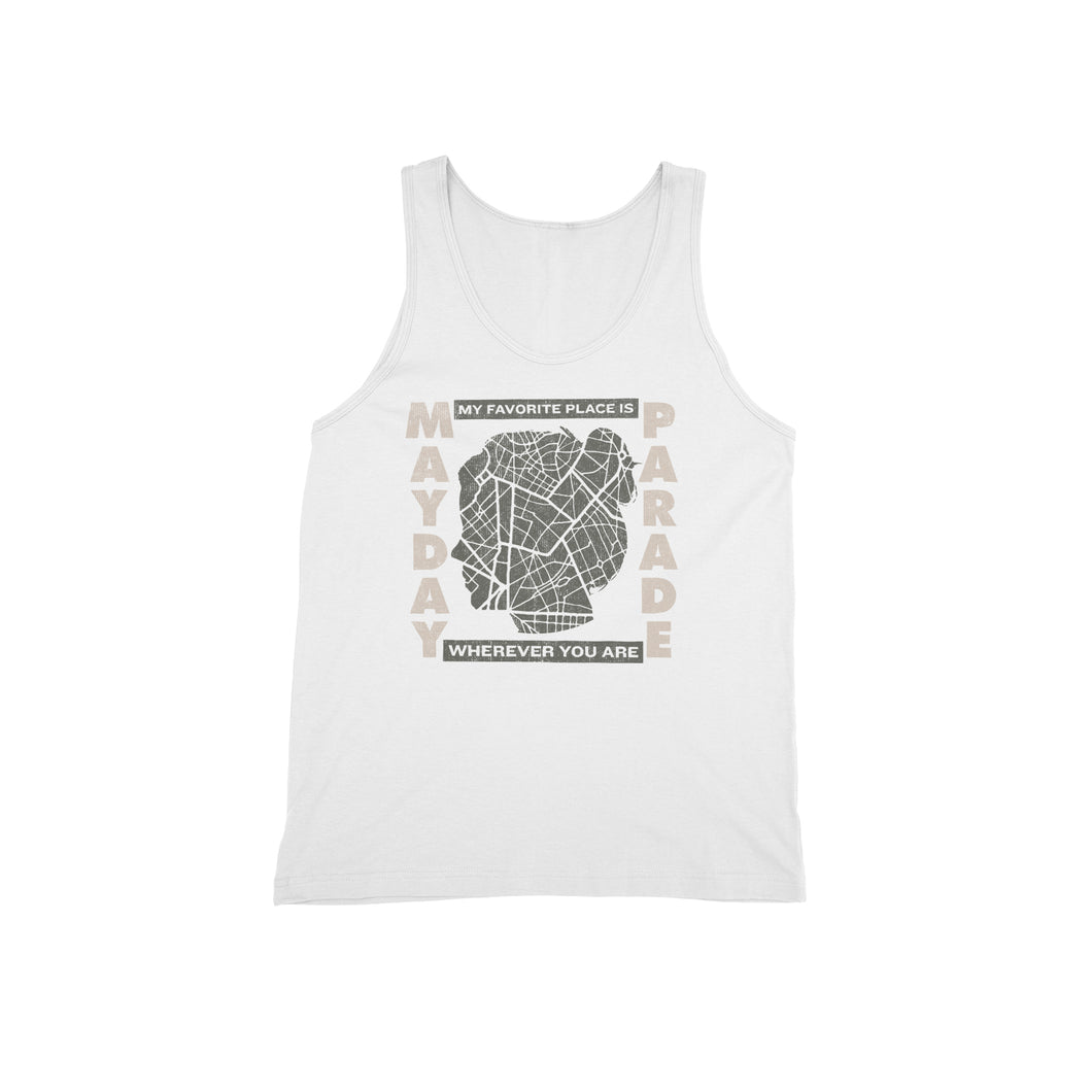 Favorite Places White Tank Top