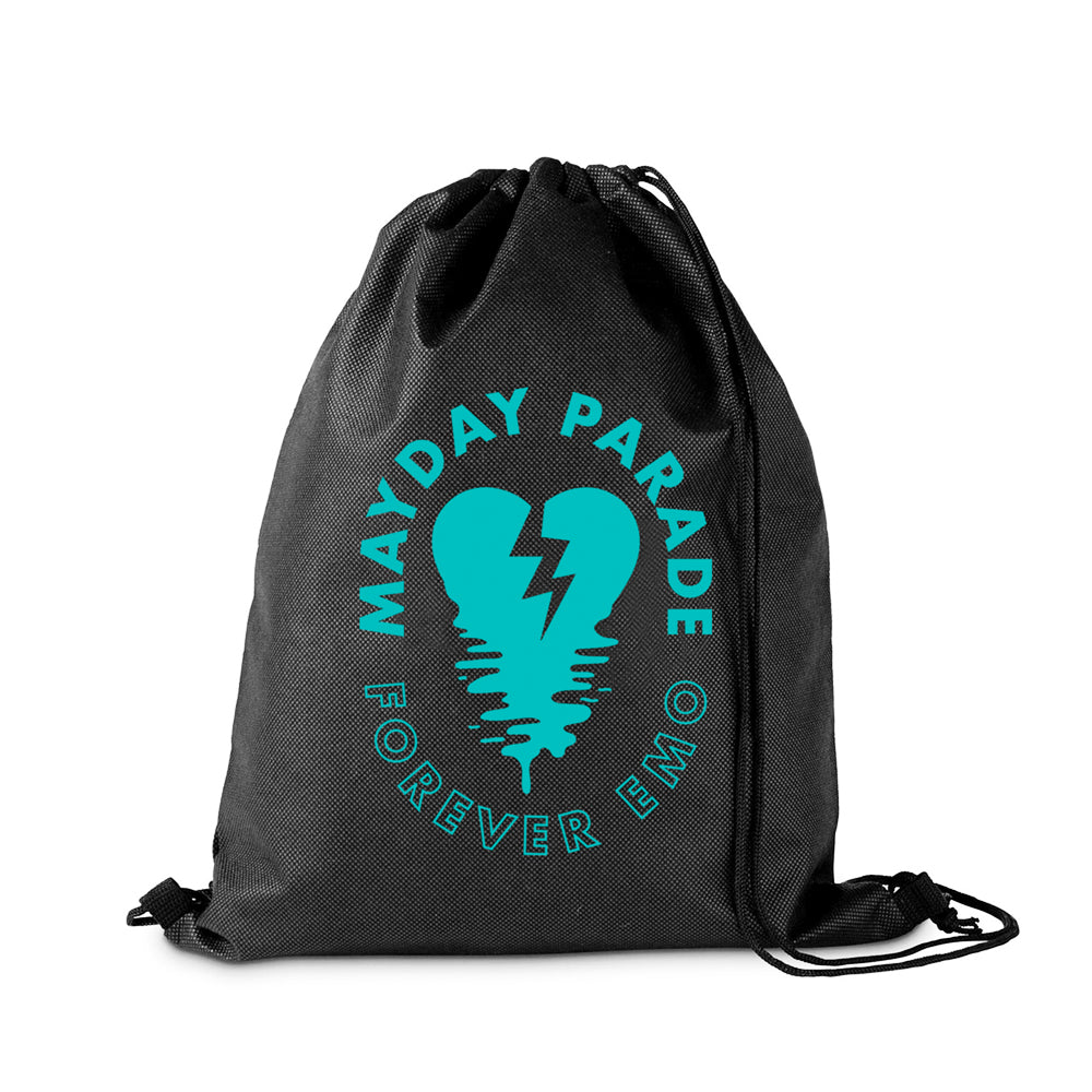 Forever Emo Black Cinch Bag