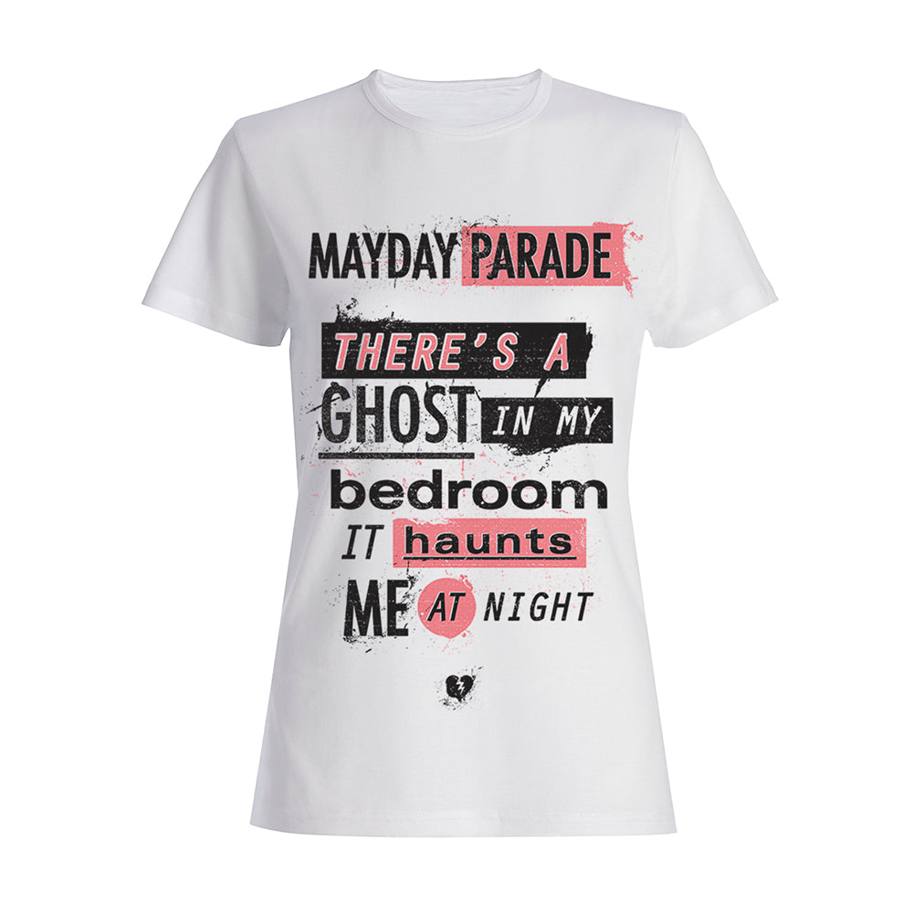 Ghosts Lyric White Women's T-Shirt