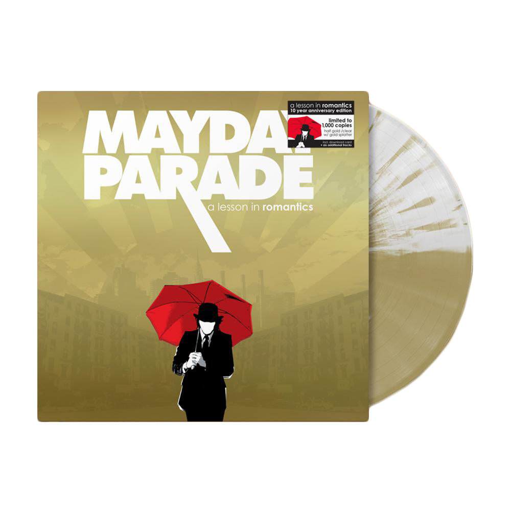 A Lesson In Romantics Half Gold/Half Clear With Splatter Vinyl