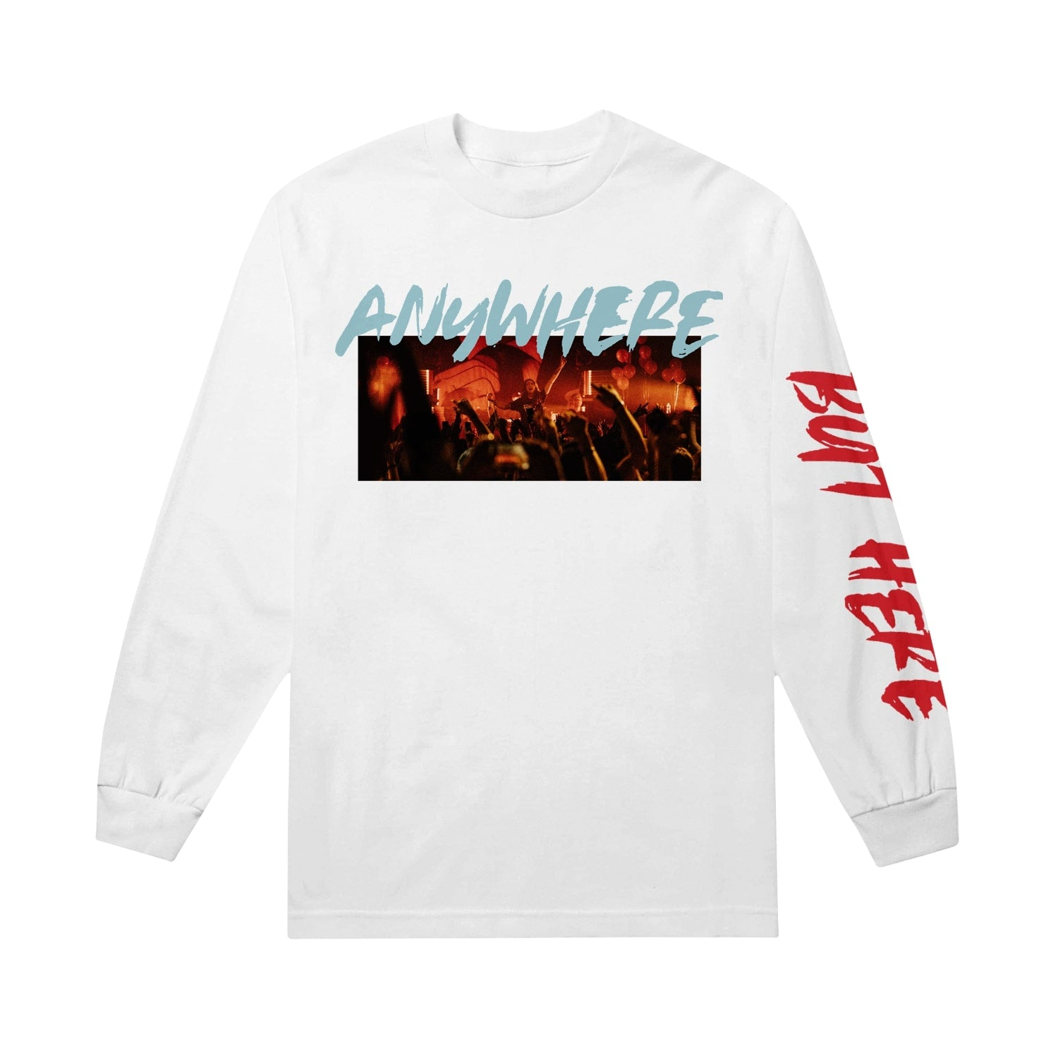 Anywhere But Here Session White Long Sleeve Tee